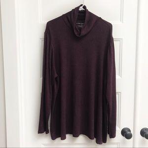 Lane Bryant Maroon Turtleneck Sweater